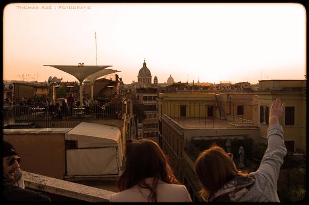 Ein Sonnenuntergang in Rom